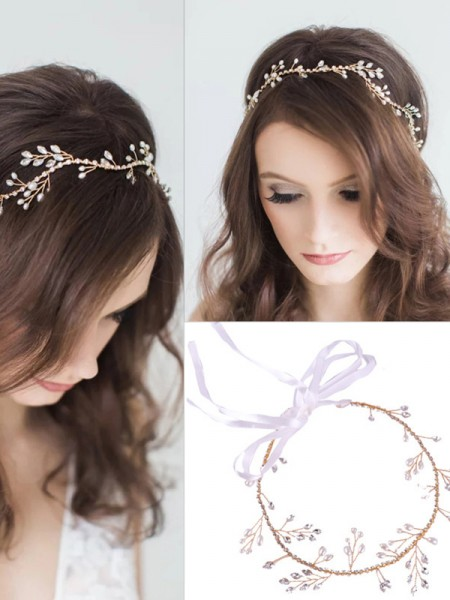 Charming Czech Alloy Headpieces do casamento
