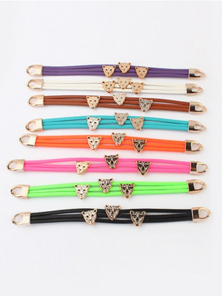 Oeste Candy colors Summer All-match Leopard head Pulseiras