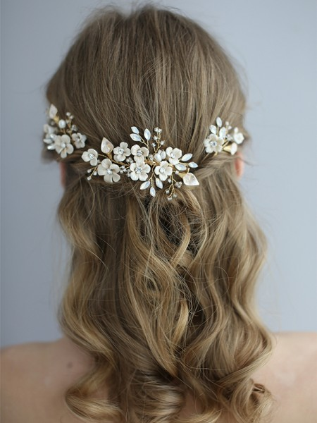 Simples Ceramic Headpieces do casamento