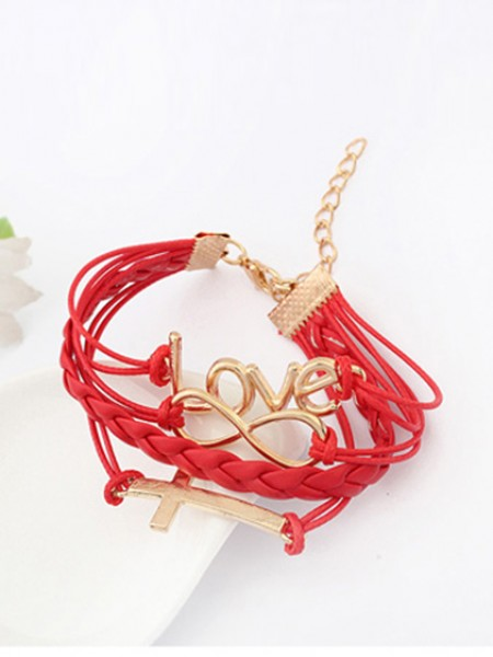 Korean version Romantic Password love Cross Pulseiras